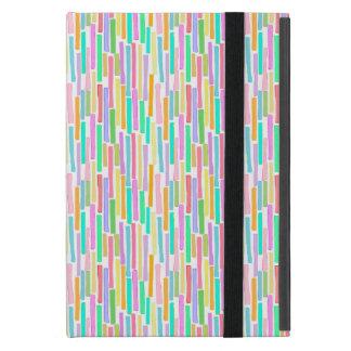 Bright colorful mini stripes fun pattern painting case for iPad mini