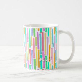 Bright colorful mini stripes fun pattern painting mug