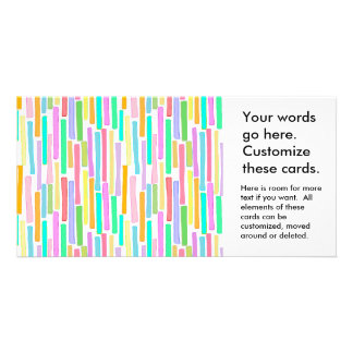 Bright colorful mini stripes fun pattern painting photo greeting card