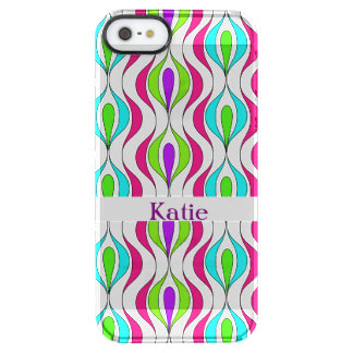 Bright Colorful Modern Fresh Patterned Clear iPhone SE/5/5s Case