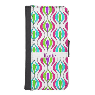 Bright Colorful Modern Fresh Patterned iPhone SE/5/5s Wallet Case