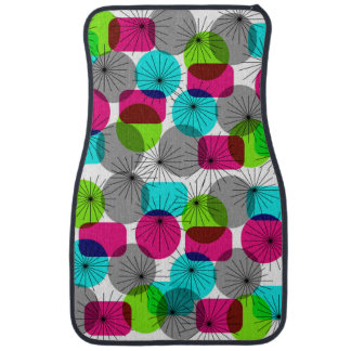 Bright Colorful Modern Geometric Pattern Car Mat