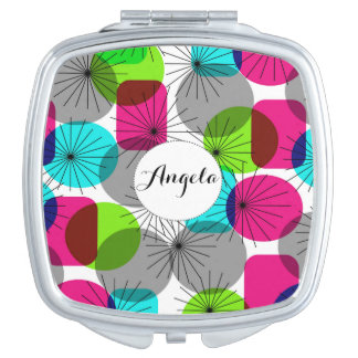 Bright Colorful Modern Geometric Pattern Vanity Mirror