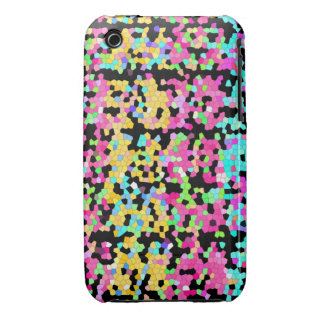 Bright Colorful Multicolored funky Artsy Pattern Case-Mate iPhone 3 Case