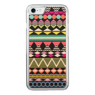 Bright Colorful Party Aztec Pattern Carved iPhone 8/7 Case