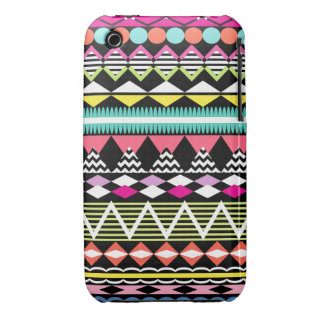 Bright Colorful Party Aztec Pattern iPhone 3 Cover
