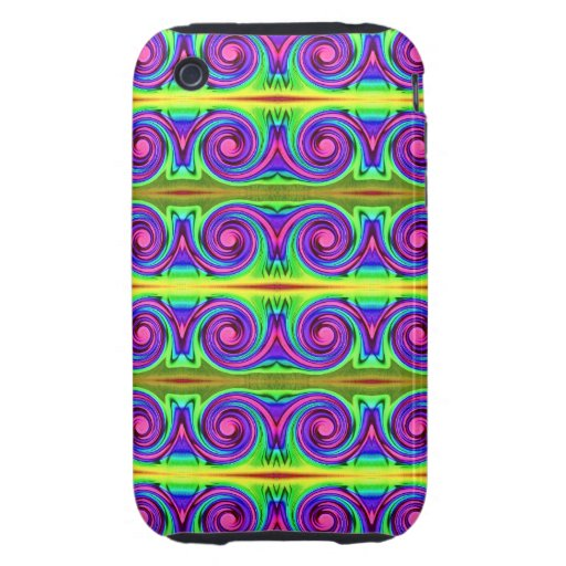 bright colorful pattern iPhone 3 tough case