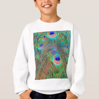Bright Colorful Peacock Feathers Sweatshirt
