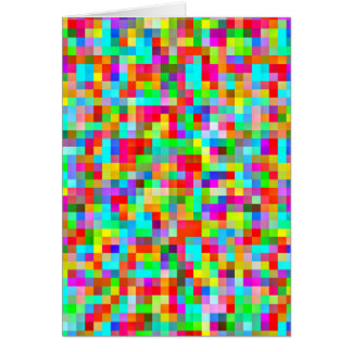 Bright Colorful Pixel Pattern Card