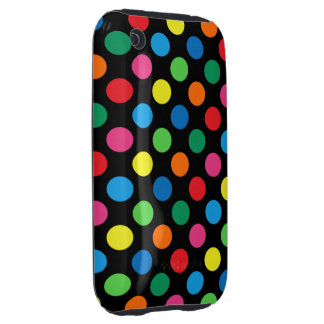 Bright Colorful Polka Dots Tough iPhone 3 Covers
