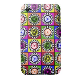 Bright Colorful pop art flowers Case-Mate iPhone 3 Case
