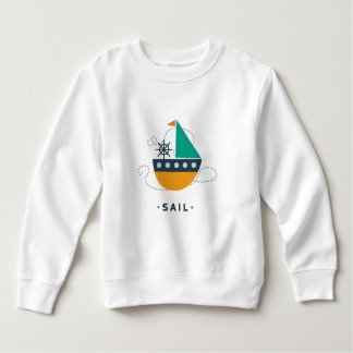 Bright Colorful Sailing Boat for Kids Sweatshirt