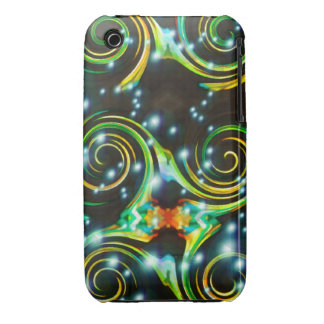 Bright Colorful Spirals Abstract Art iPhone 3 Case