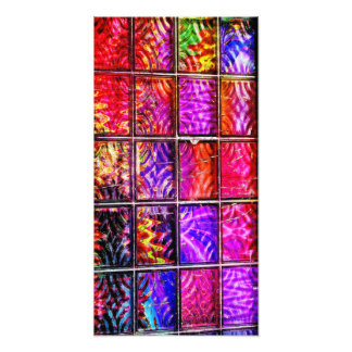bright colorful squares photo print