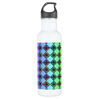 Bright Colorful Stained Glass Style Pattern. 710 Ml Water Bottle