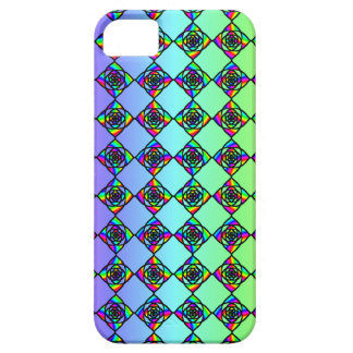 Bright Colorful Stained Glass Style Pattern. Barely There iPhone 5 Case