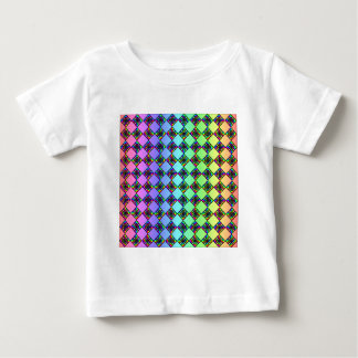 Bright Colorful Stained Glass Style Pattern. Tees