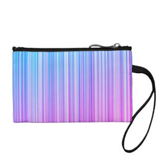 Bright Colorful Striped Pattern Coin Wallet