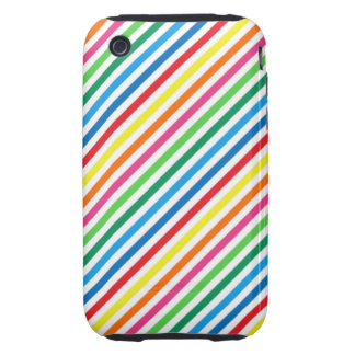 Bright Colorful Stripes iPhone 3 Tough Cases