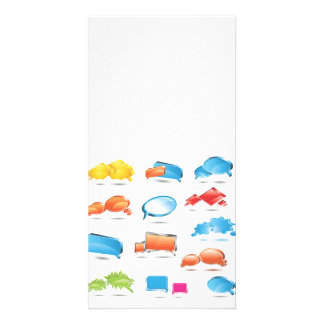 Bright Colorful Text Baloons.ai Customised Photo Card