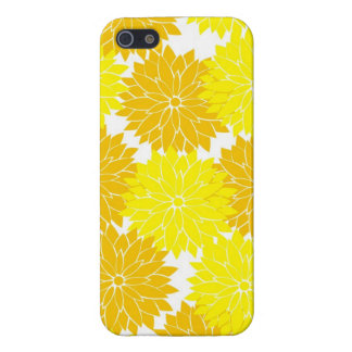 Bright Colorful Yellow Flower Blossoms Floral iPhone 5 Cases