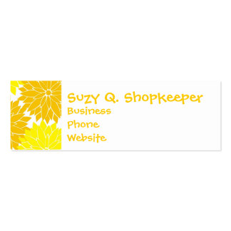 Bright Colorful Yellow Flower Blossoms Floral Pack Of Skinny Business Cards