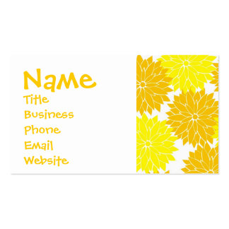 Bright Colorful Yellow Flower Blossoms Floral Pack Of Standard Business Cards