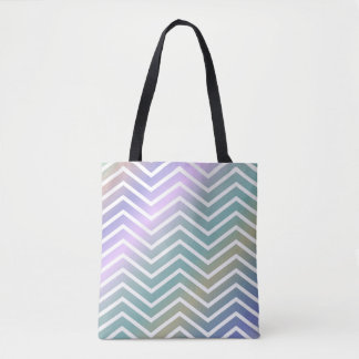 Bright Colorful Zigzag Tote Bag