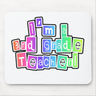 Bright Colors 3rd Grade Teacher Mouse Pad