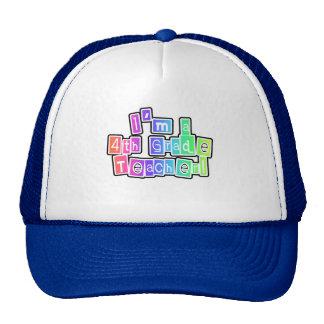 Bright Colors 4th Grade Teacher Cap