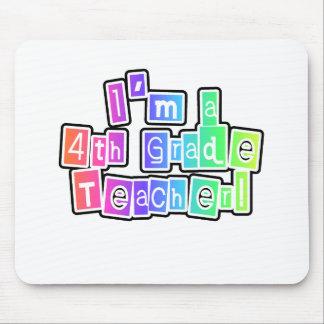 Bright Colors 4th Grade Teacher Mouse Pad