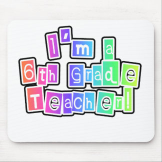 Bright Colors 6th Grade Teacher Mouse Pad