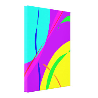 Bright Colors Abstract Design Stretched Canvas Print