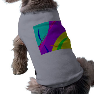 Bright Colors Abstract Design Pet Tshirt