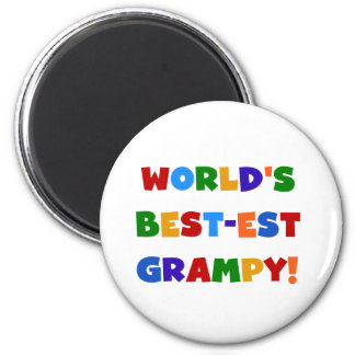 Bright Colors Best-est Grampy T-shirts and Gifts 6 Cm Round Magnet