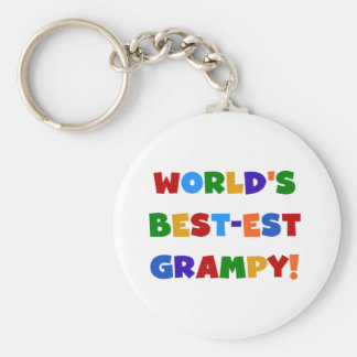 Bright Colors Best-est Grampy T-shirts and Gifts Basic Round Button Key Ring