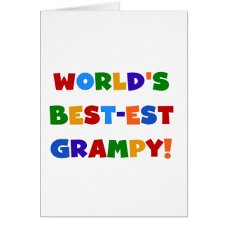 Bright Colors Best-est Grampy T-shirts and Gifts Card
