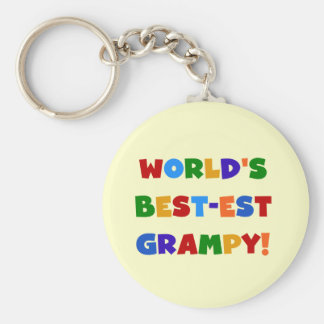 Bright Colors Best-est Grampy T-shirts and Gifts Key Ring