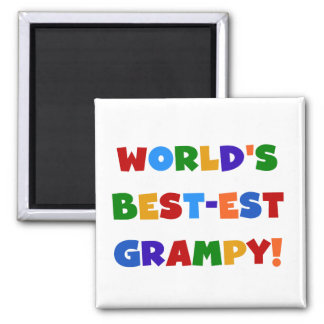 Bright Colors Best-est Grampy T-shirts and Gifts Square Magnet