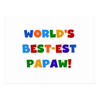 Bright Colors Best-est Papaw Tshirts and Gifts Postcard