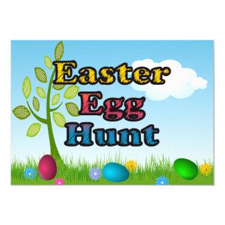 "Bright Colors Easter Egg Hunt Invitations 5"" X 7"" Invitation Card"