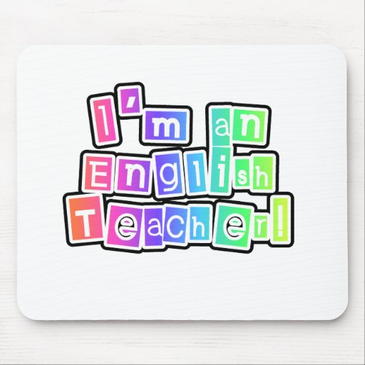 Bright Colors English Teacher Mouse Mats