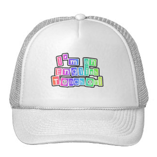 Bright Colors English Teacher Tshirts and Gifts Mesh Hats