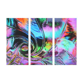 Bright Colors Glass Scape/Stretched Canvas Art