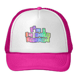 Bright Colors I'm a 1st Grade Teacher Trucker Hats