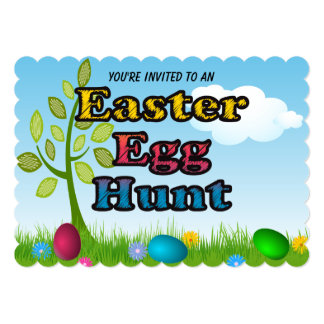 Bright Colors Kids Easter Egg Hunt Invitations
