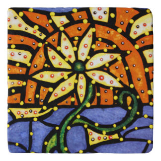 Bright Colors Modern Abstract Flower Trivets