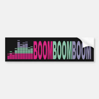 Bright colors music bass sound 80s rock on audio bumper sticker