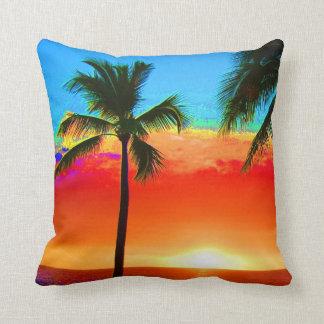 Bright Colors Palm Tree Cushion