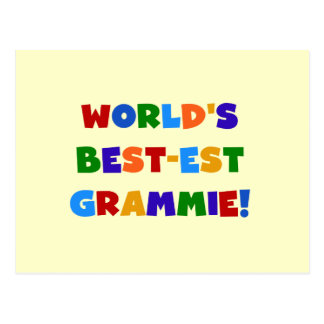 Bright Colors World s Best-est Grammie Gifts Post Card